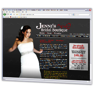Attractive website for a bridal shop in Rochester Minnesota