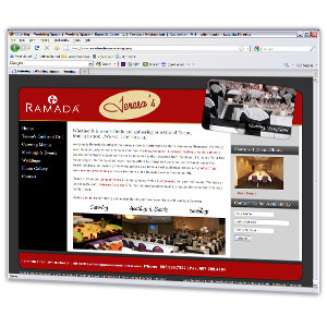Restaurant and catering website with a unique design utilizing our photo gallery and search engine optimization services.